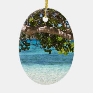 Barbados Beach Scenery Christmas Ornament
