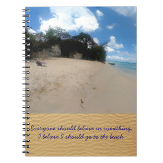Barbados Beach Spiral Note Books