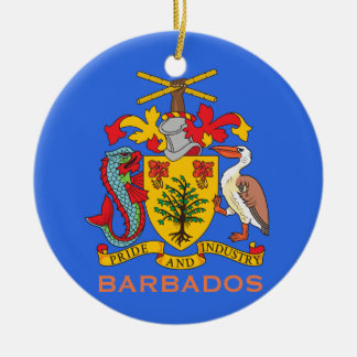 Barbados Coat of Arms and Flag Christmas Ornament