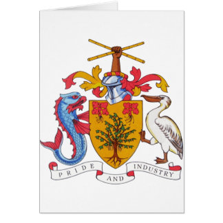 Barbados Coat of arms BB Card