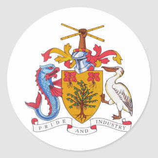 Barbados Coat of arms BB Classic Round Sticker