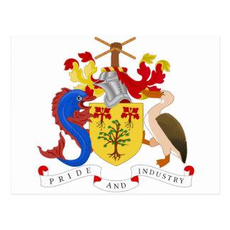 Barbados Coat of Arms Postcard