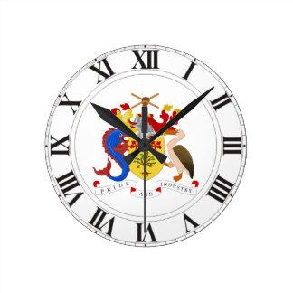 Barbados Coat of Arms Round Clock