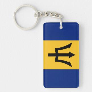 Barbados country flag symbol long key ring