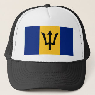Barbados country flag symbol long trucker hat