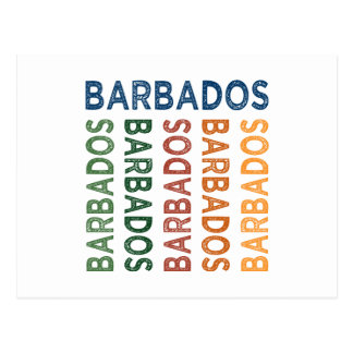 Barbados Cute Colorful Postcard