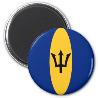 Barbados Fisheye Flag Magnet