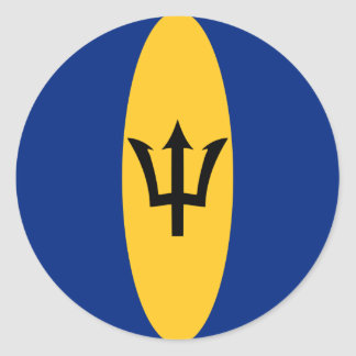 Barbados Fisheye Flag Sticker