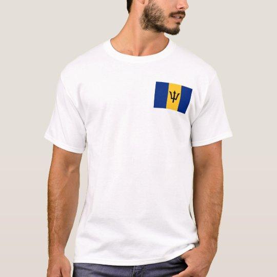 Barbados Flag and Map T-Shirt