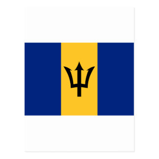 Barbados Flag BB Postcard