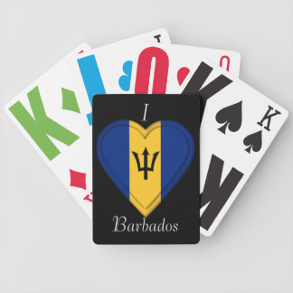 Barbados Flag Bicycle Playing Cards