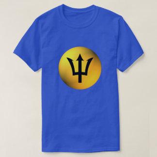 Barbados Flag Black Trident Sphere T-Shirt
