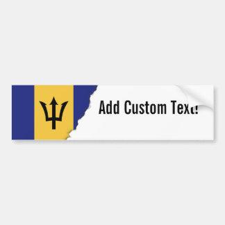 Barbados Flag Bumper Sticker