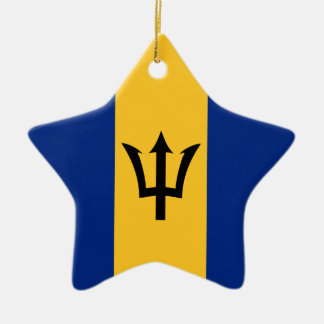 Barbados Flag Ceramic Star Decoration