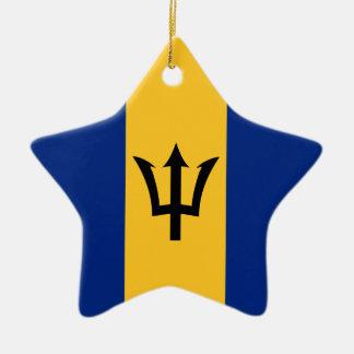 Barbados Flag Christmas Ornament