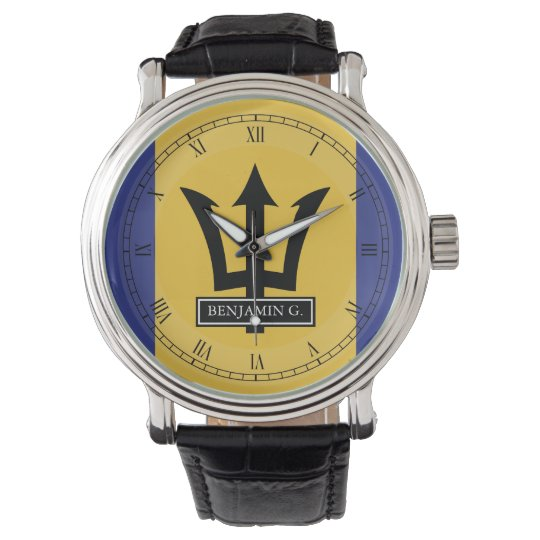 Barbados Flag Custom Name Watch