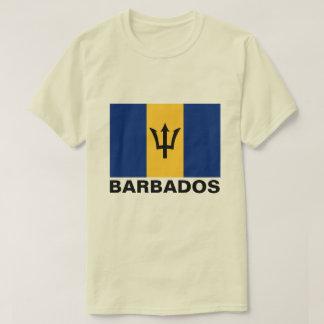 Barbados Flag Customizable Black Text T-Shirt