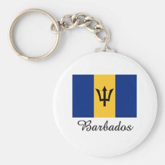 Barbados Flag Design Key Ring