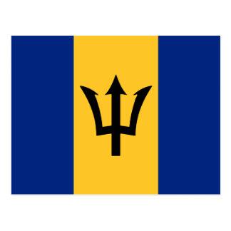 Barbados Flag Design Postcard
