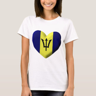 Barbados Flag heart T-Shirt