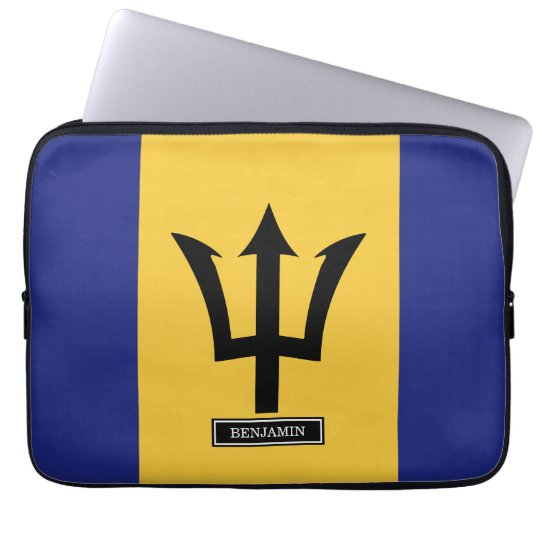 Barbados Flag Laptop Sleeve