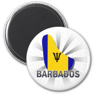 Barbados Flag Map 2.0 Magnet