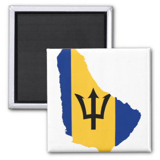 Barbados Flag map BB Magnet