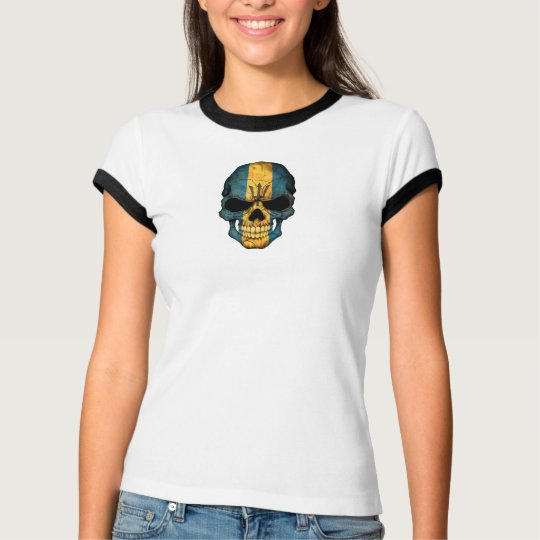 Barbados Flag Skull T-Shirt