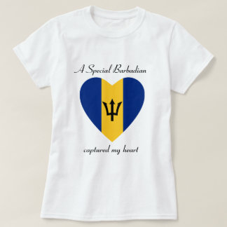 Barbados Flag Sweetheart T-Shirt