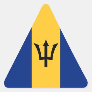 Barbados Flag Triangle Sticker
