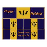 Barbados happy holidays postcards