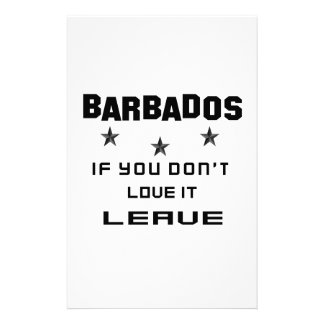 Barbados If you don't love it, Leave Personalised Stationery