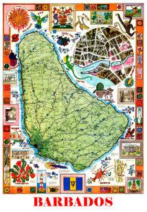 Vintage Barbados Postcards Zazzle UK - Tourist map of barbados