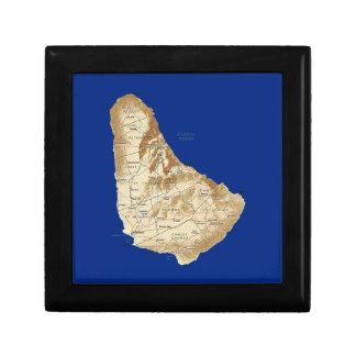 Barbados Map Gift Box