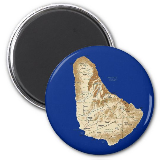 Barbados Map Magnet
