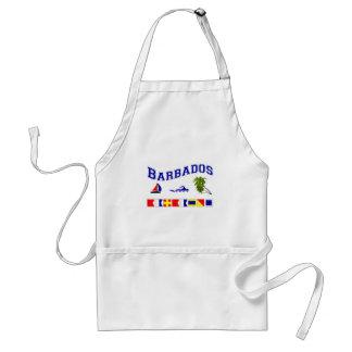Barbados - (Maritime Flag Spelling) Aprons