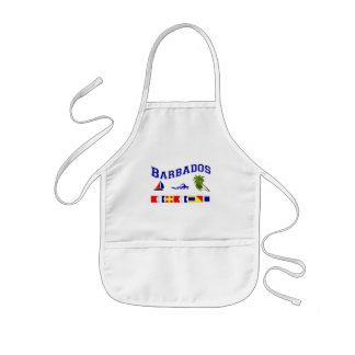 Barbados - (Maritime Flag Spelling) Kids Apron