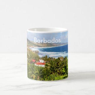 Barbados, Mug, Ocean, Tropical, Beach, Palm Basic White Mug