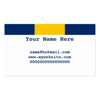 Barbados Pack Of Standard Business Cards