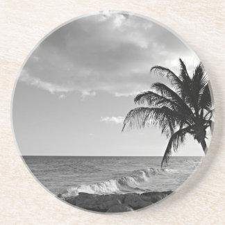 Barbados Palm Tree Beach Drink Coasters