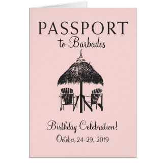 Barbados Passport Birthday Invitation