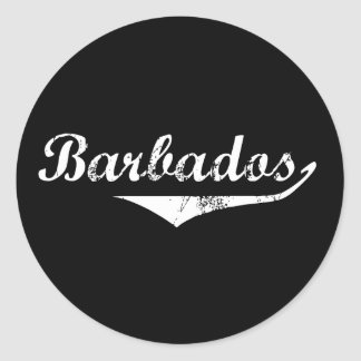 Barbados Revolution Style Classic Round Sticker
