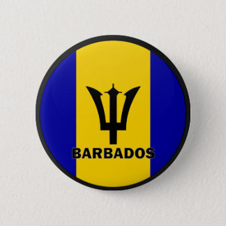 Barbados Roundel quality Flag 6 Cm Round Badge