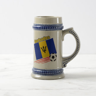 Barbados Soccer Team Beer Steins