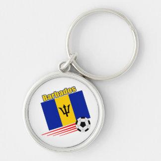 Barbados Soccer Team Key Ring