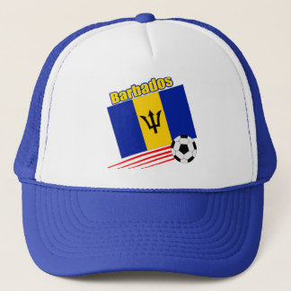 Barbados Soccer Team Trucker Hat