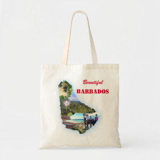 Barbados Themed Shopping Tote Canvas Bags