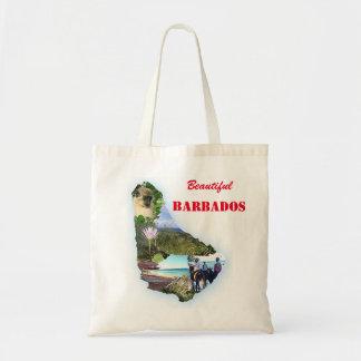 Barbados Themed Shopping Tote Budget Tote Bag