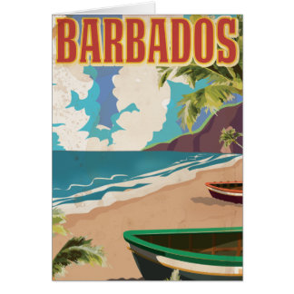 Barbados travel poster card
