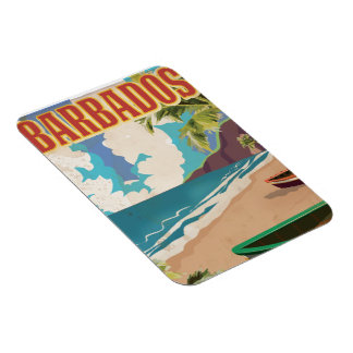 Barbados travel poster magnet